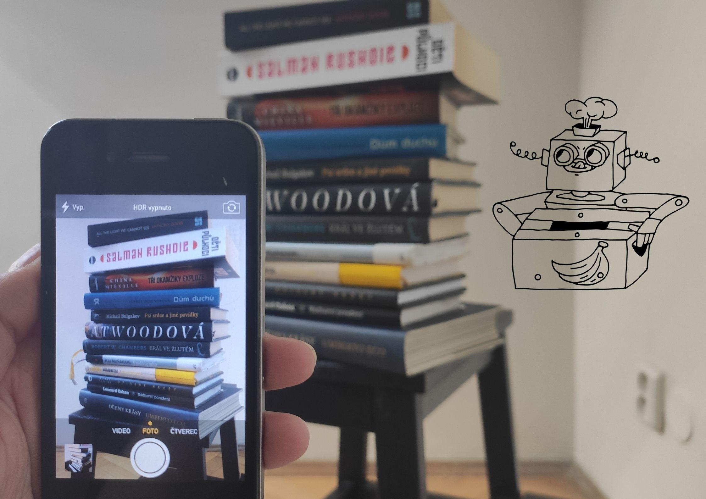 Pro odeslání knih do Knihobotu stačí knížky vyfotit a odeslat přes formulář